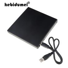Kebidumei 12 7mm SATA obudowa zewnętrzna USB 2 0 DVD CD dvd-rom etui na laptopa CD napęd optyczny DVD Portable Slim Wholesale tanie tanio Dvd dvd-rom Just black color 12 7mm 9 5mm