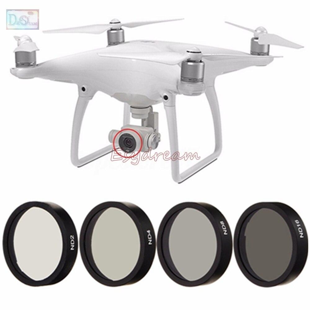 Densité neutre ND2 + ND4 + ND8 + ND16 Lens Filter Kit pour DJI Phantom 3 Avancée/Standard/Professionnel/SE/4 Accessoires