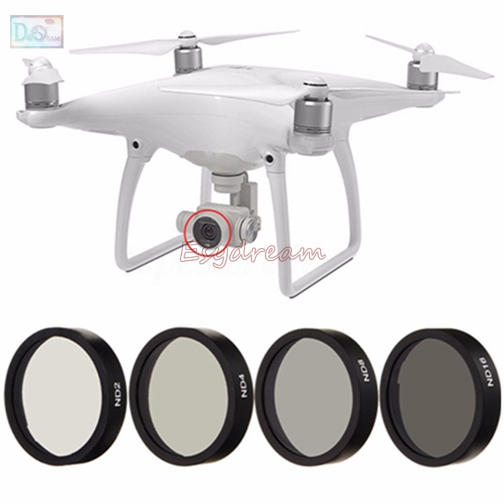 Neutral Density ND2 + ND4 + ND8 + ND16 Lens Filter Kit for DJI Phantom 3 Advanced / Standard / Professional / SE / 4 Accessories стоимость