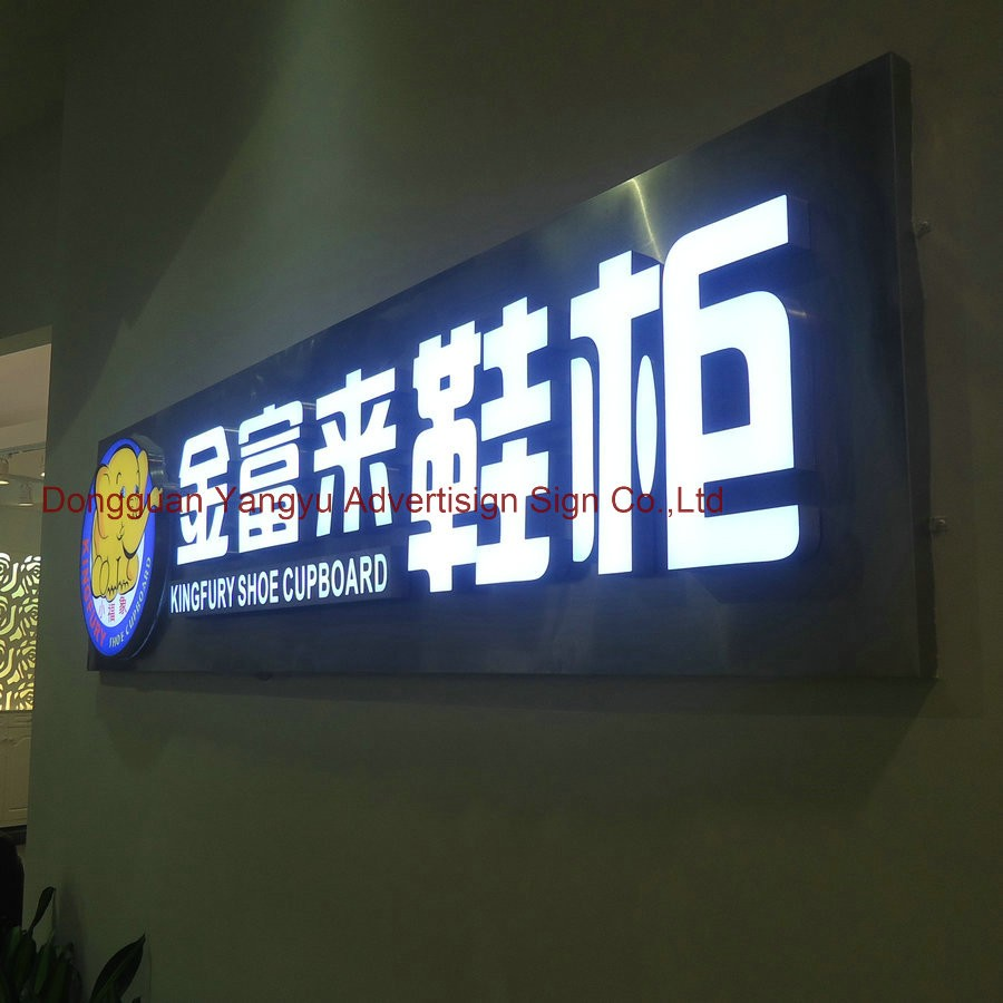 3D Outdoor led light up letters illuminated store front build up acrylic signage
