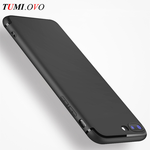 online store 56fb5 c689c US $1.19 20% OFF|TUMI.OVO Luxury Fashion Scrub Silicone Soft TPU Cover Case  For iPhone 7 6S Plus Case Cover for 5 5S 5SE 6Plus Mobile Phone Cases-in ...