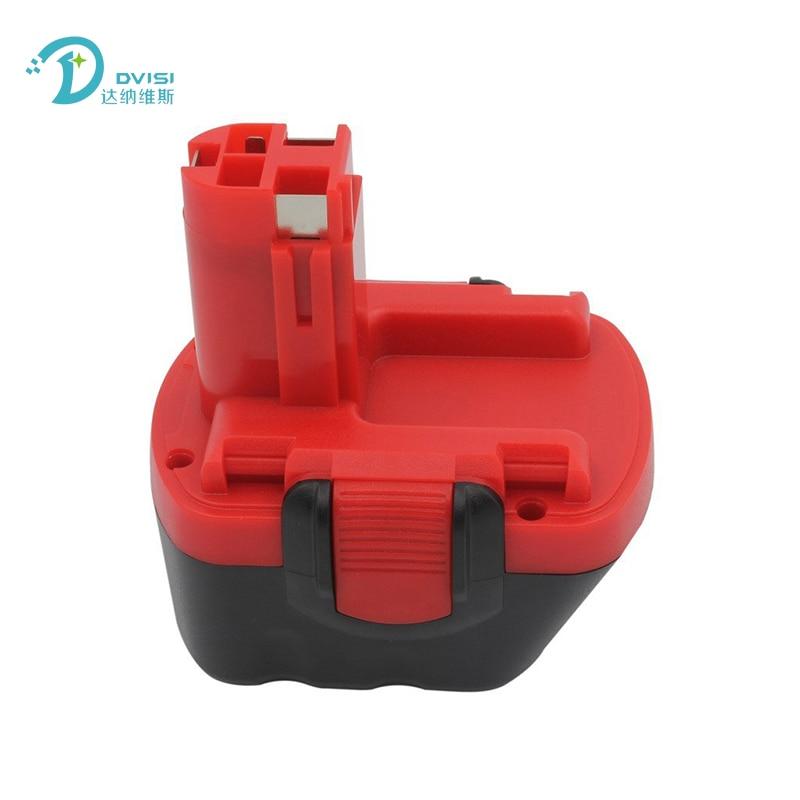 Batterie rechargeable DVISI Reprcement 12 V 3000 mAh Ni-MH pour Bosch BAT043 BAT045 BAT046 BAT049 BAT120 BAT139