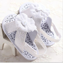 Pudcoco 0-18M First Walker Baby Shoes Toddler Summer Toddler Infant Baby Girl Cloth Flower Shoes Crib Size  Trainer
