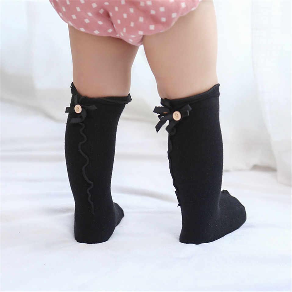 Bebek kız uzun kadınlar için çorap Toddler diz üstü çorap kızlar için bacak ısıtıcısı pamuklu bot çorap Meias moda prenses elbise Sokken
