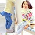 2016 Primavera E Outono Crianças Roupas Casuais Calças Jeans Imagem Dos Desenhos Animados Meninas calças de Brim