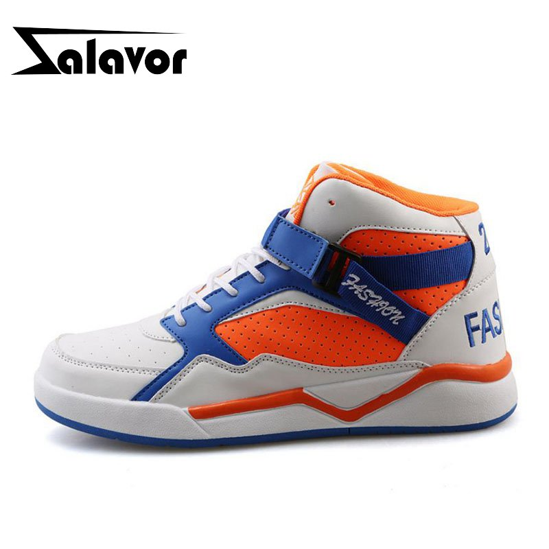 ZALAVORTrend Basketball Shoes Men High Top Lace Up Flats Sports Shoes Fashion Mixed Color Outdoor Male Sneakers Size 39-44ZALAVORTrend Basketball Shoes Men High Top Lace Up Flats Sports Shoes Fashion Mixed Color Outdoor Male Sneakers Size 39-44
