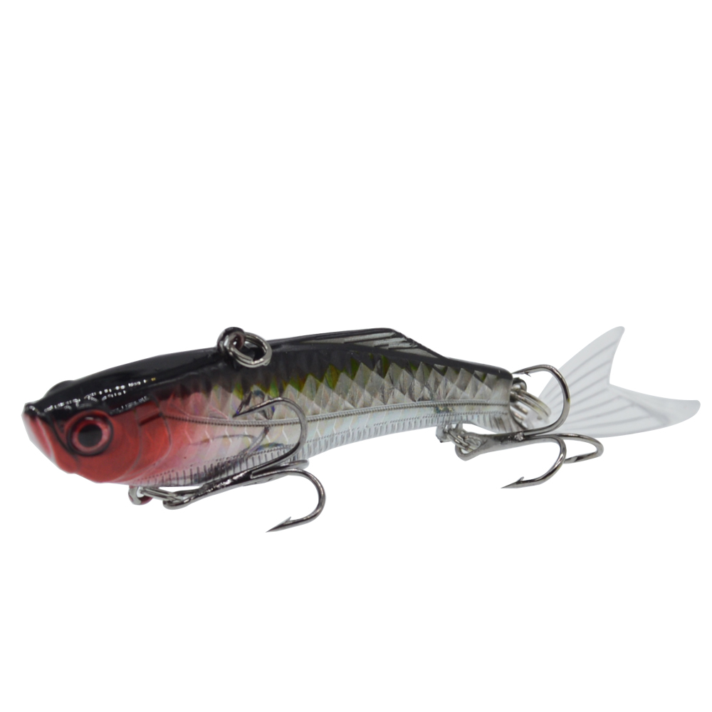 Image 4 - 1PCS 8.3cm/23g Winter Sea Hard Fishing Lure VIB Bait 3D eyes With Lead Inside Diving Swivel Jig Wing Wobbler Crankbait-in Fishing Lures from Sports & Entertainment