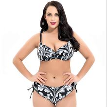 Plus Size 8XL Sexy Bikini Swimwear Women Push Up Bikini Set Swimsuit Femme Biquini Large Size Bikini Beach Wear Bathing Suit tropical flower plus size bikini set