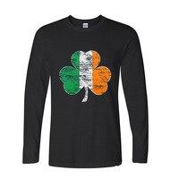 2017 Fashion Summer Style Irish Flag Funny Long Sleeve T Shirt