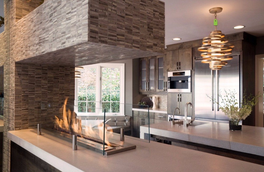 On Sale  62 Inch Black/stainless Decorative Modern Fireplace Inserts