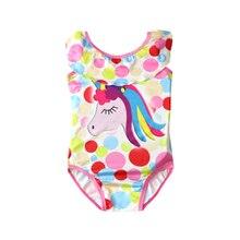 New Toddler Unicorn children swim for girl one piece baby girls unicorn kid bathing swimming costume 0316