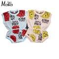 MAKA Niños Mamelucos Del Bebé Del Otoño del Resorte Ropa de Escalada Recién Nacido Niñas Trajes de verano para niñas de Punto Suéter Outwear Floral