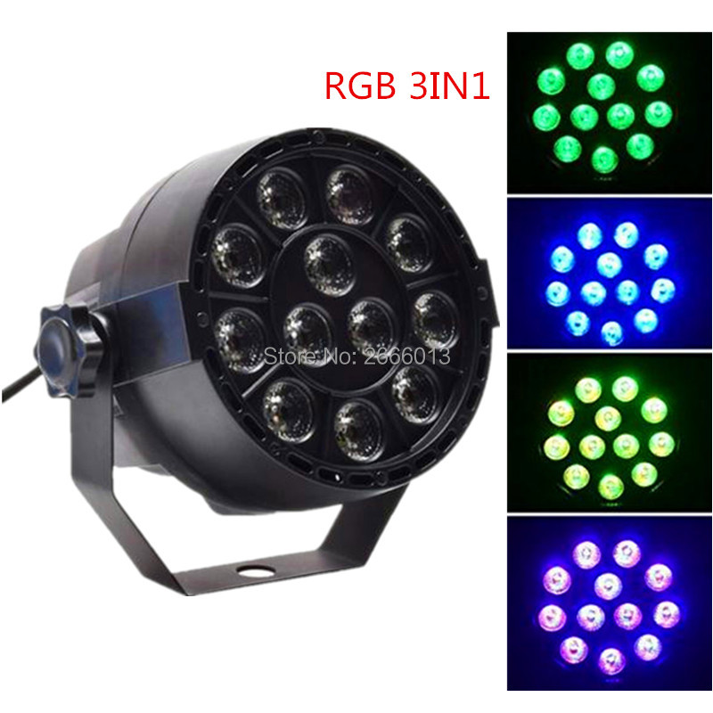 Dj Disco Projector RGB 3IN1 LED Flat Portable Mini Stage Par Light12 LEDs RGB Mixing Color Stage Lighting Effect Christmas lamps