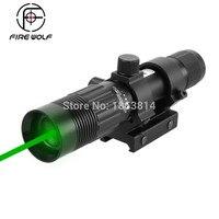 Firewolf Tactical 5mw Green Laser Sight Adjustable Green Laser Designator Hunting Laser Sight With 21mm Rail Laser Power