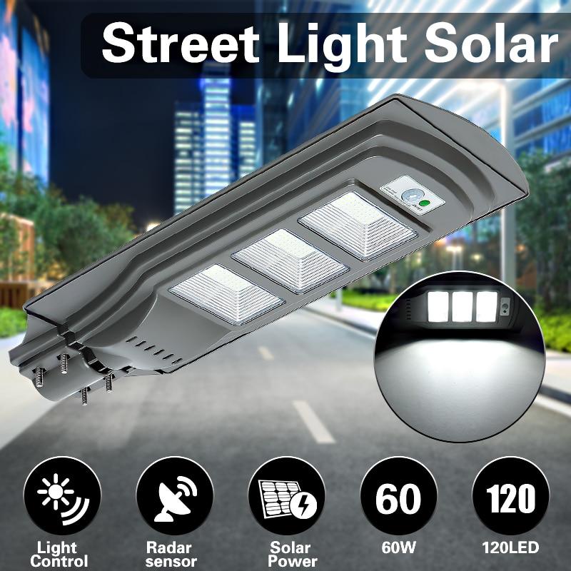 Mising 60 Вт Солнечный свет 120LED 2835SMD 6 В 12 Вт Солнечный Мощность открытый свет с Управление радар сенсор серый Путь лампы