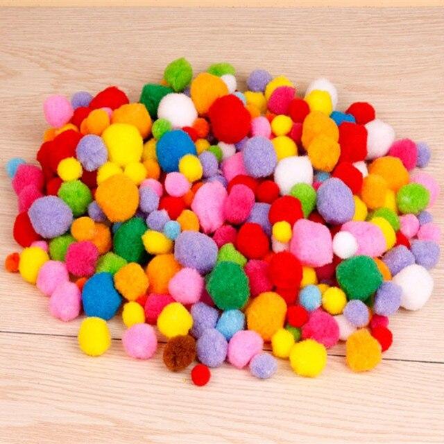 200pics Pack Fur Balls Handicrafts Material For Kids Wool Materials