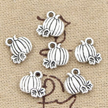 30pcs Charms pumpkin fall thanksgiving halloween 10x10mm Antique Silver Pendants Making DIY Handmade Tibetan Silver Jewelry(China)