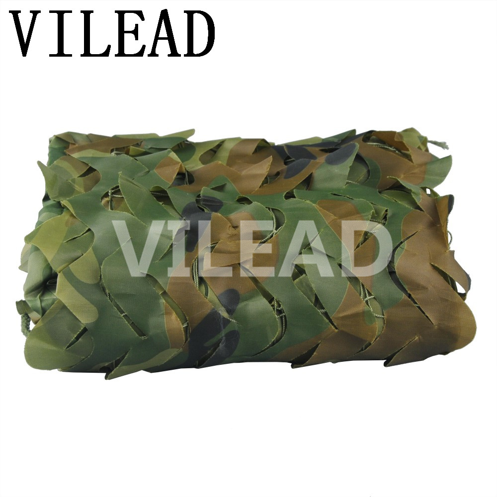 VILEAD 2.5M x 8M (8FT x 26FT) Woodland Digital Military Camouflage Netting Army Camo Net Sun Shelter for Hunting Camping Tent vilead 5m x 8m 16 5ft x 26ft desert military army camouflage net digital camo netting jungle sun shelter for hunting camping