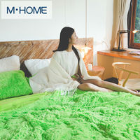 Solid Velvet Mink Bedding Set Warm Thicken Winter Home Duvet Cover Bed Linen Quilt Queen Size