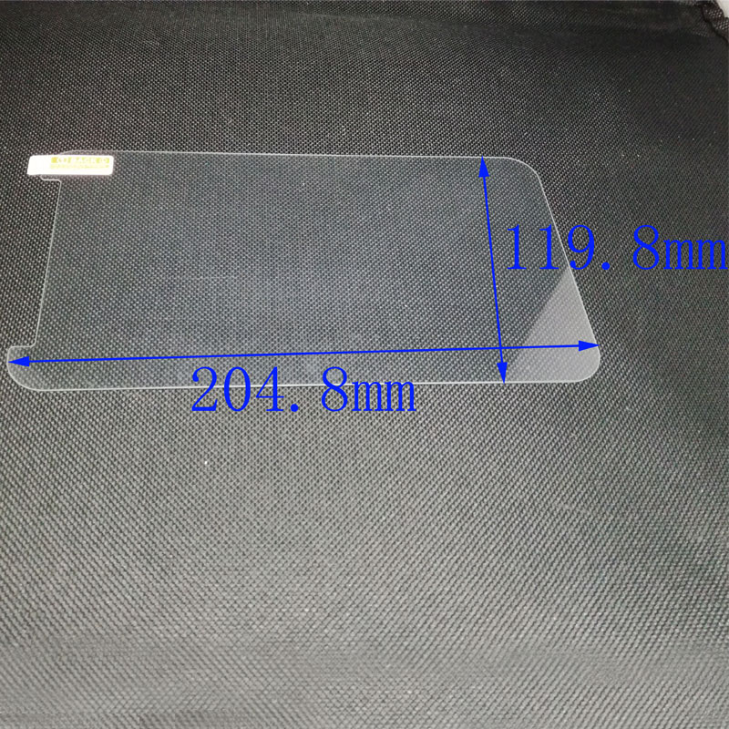 Universal Tempered Glass Film Screen Protector for 8 inch Tablet Protective Film + Cleaning Wipes Size 204.8x119.8mm 204 8x119 8mm tempered glass screen protector premium front clear protective film cover for digma plane 8 inch tablet