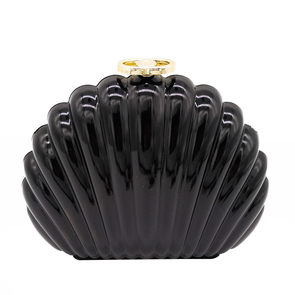 Eye-catching Acrylic Women's Bag, Featured and Unique Shell-shaped Evening Bag, Handbag and Chain Bag with Candy Color globe shaped aluminum shell precise compass