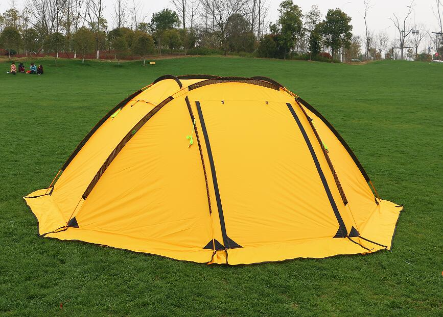 Hillman 3-4 person big space aluminum poles 210T waterproof ultralight outdoor camping tent high quality new tent authentic august 4 8 person outdoor camping 1hall 1bedroom anti rain wind big traveling camping tent in good quality large space