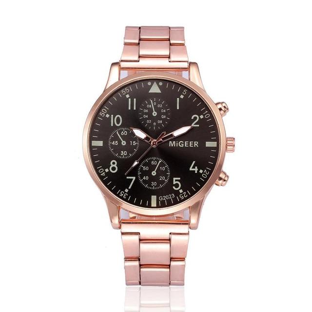 Fashion Man Crystal Stainless Steel Analog Quartz Wrist Watch Relogio Masculino Watch Men Reloj Hombre Bayan Kol Saati
