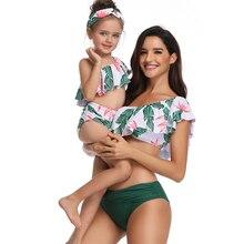 Matching Family Mother Girl Bikini 2019 Swimsuit Swimwear Women Swimsuit Children Baby Kid Beach Swimwear  biquini infantil