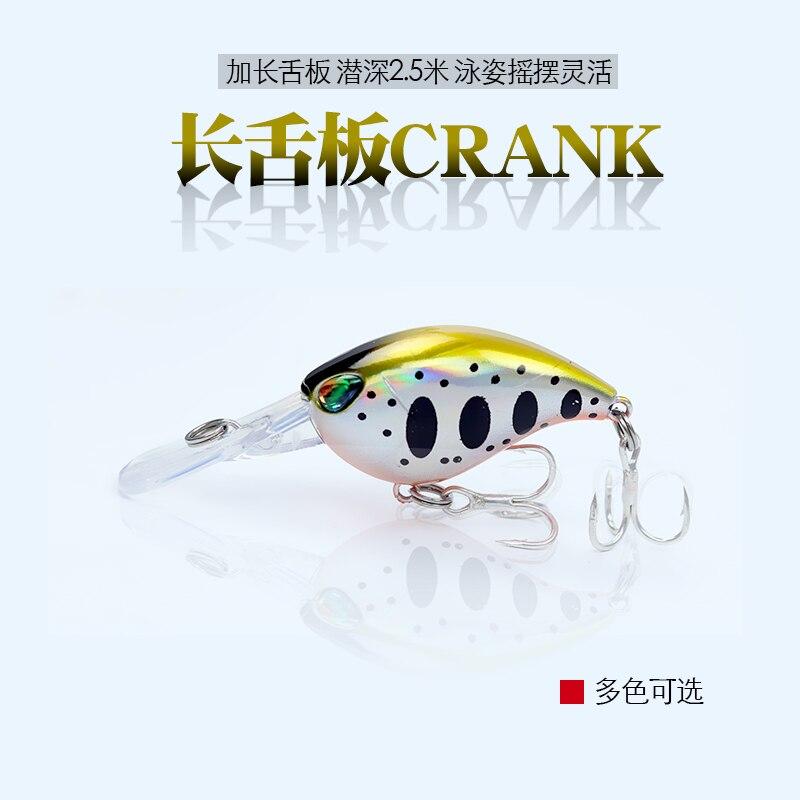 1Pcs Mini Crank Fishing Lure 6cm 5g Chubby Spinner Bait Crankbait 3D Eyes Hard Baits Deep 1.5m-2.5m Bass Minnows Fishing Tackle