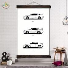 Лучший!  Nissan GTR Автомобиль Wall Art Отпечатки На Холсте Картина Кадр Прокрутки Живопись Висит Плакат
