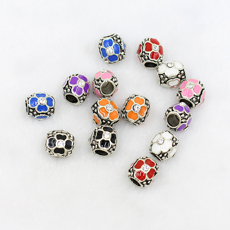Jewelry-Accessories Oil-Beads Pearl Point-Drop Large-Holes Oil-Drilling Alloy DIY of