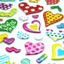 4 листов/комплект Прекрасный форме сердца 3D Пузырь Наклейки Милые и Красивые украшения Творческий сделай сам Подарок Канцелярские Школьные принадлежности