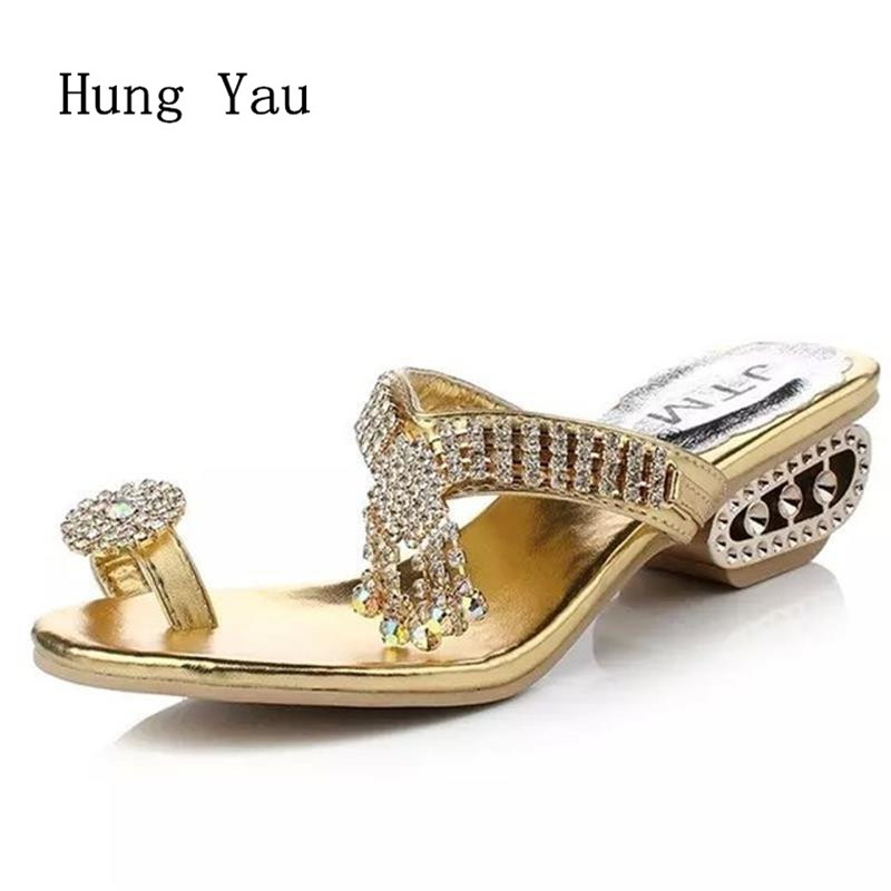 Women Sandals Flip Flops 2017 New Summer Fashion Rhinestone Wedges Shoes Woman Slides Beautiful Lady Casual Shoes Female xiaying smile summer new woman sandals casual fashion shoes wedges heel women pumps bling crystal sweet lady style women shoes
