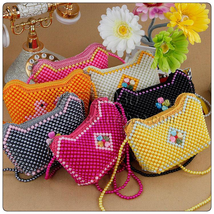 Handmade Beaded Bags Finished Product Women S Handbag Messenger Bag Personalized Child Coin Purse Long In Wallets From Luggage On Aliexpress