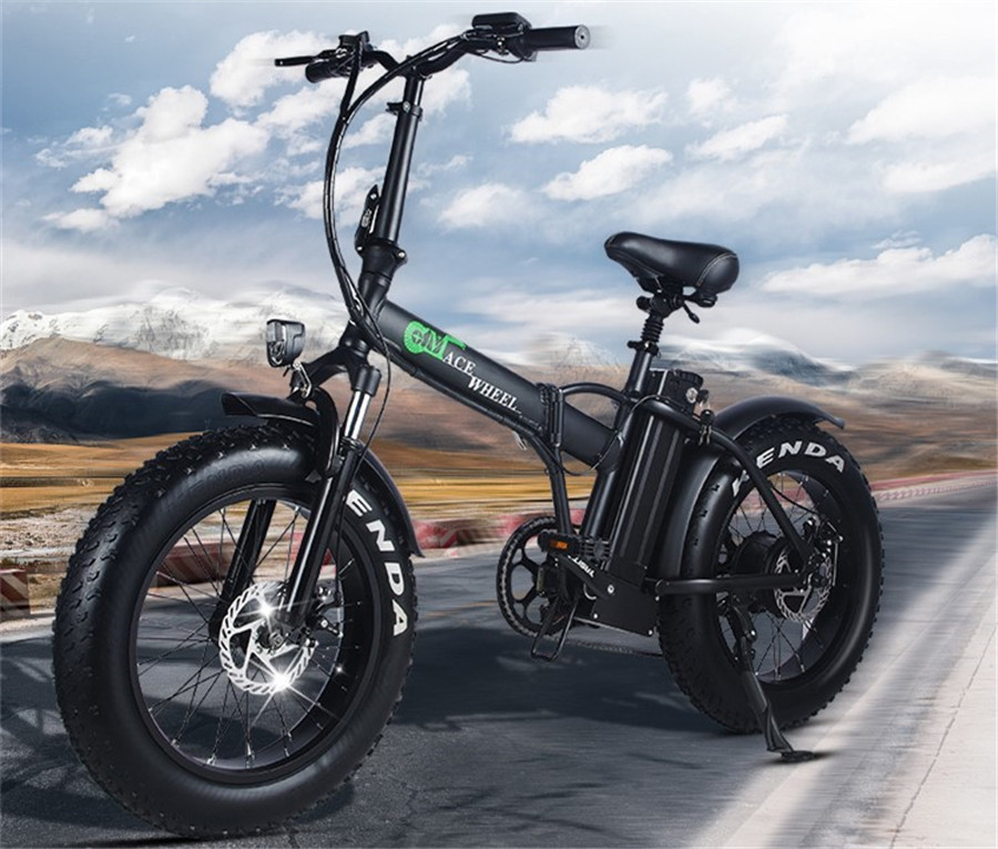 EUR Estoque 2 Roda Pneu Gordura Bicicleta Elétrica 500W Dobrável Impulsionador Bicicleta Ciclo de Bicicleta Elétrica Dobrável aluminum50km/h