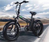 EUR Lager Fett Reifen 2 Rad 500W Elektrische Fahrrad Klapp Booster Fahrrad Elektrische Fahrrad Zyklus Faltbare aluminum50km/h