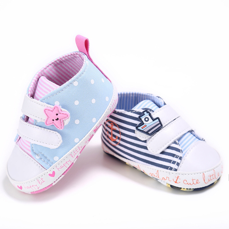 Babyshoes 0-18 Months BabyBoy Girls Leisure Canvas Soft Sole Comfortable Toddler Shoes Bottom Baby Shoes Toddler Shoes