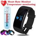 Termômetro smartband inteligente pulseira bluetooth heart rate pedômetro rastreador de fitness esporte fitbit inteligente pulseira banda pk mi banda