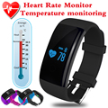 Thermometer Smartband Smart Bracelet Bluetooth Heart Rate Pedometer Fitness Tracker Sport Smart Wristband Band PK Fitbit Mi Band