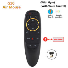 G10 air mouse Gyro Sensing gra z kontrolą głosu 2.4GHz bezprzewodowy mikrofon pilot do X96 smart tv z androidem Box PC(China)