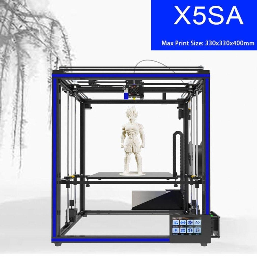Haute Précision 3D Imprimante Grand Impression Taille 330*330*400mm Avec Automatique Fonction de Mise À Niveau X5SA UE Plug le bateau DE DE