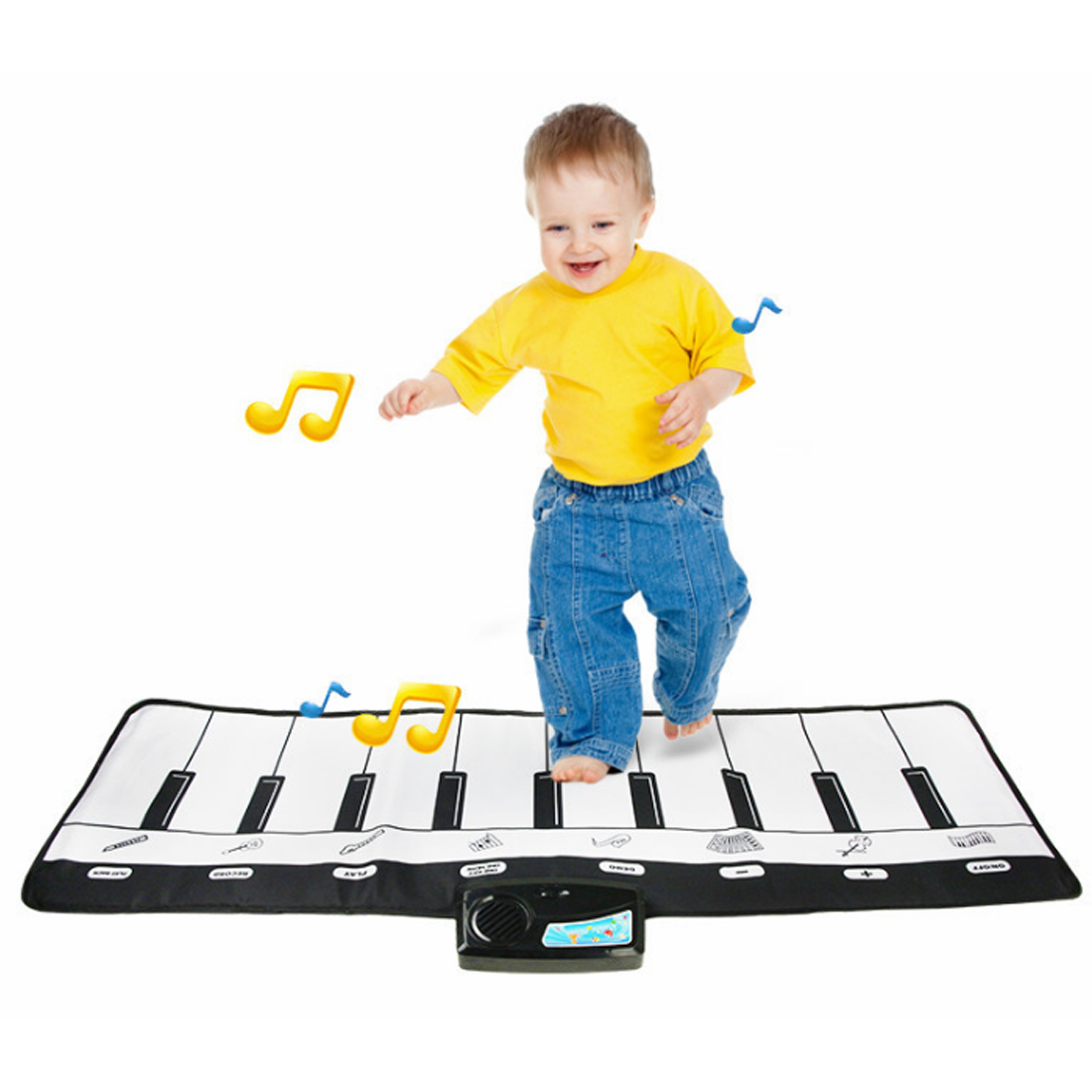 Hot Kids Piano Floor Mat Musical Instrument Blanket Keyboard Musical Dance Blanket Toy Soft Baby Play Mat Activity Piano Pedal