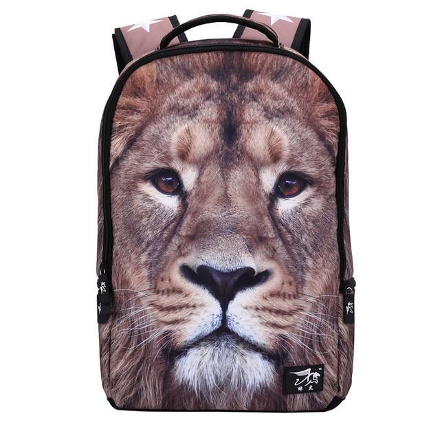 Рюкзаки с животными 3d фото стрелковые чемоданы