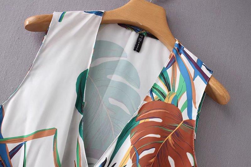 Vestido Tops As Femenina Sin Chaleco Blusa Plisado Casual Anudado Blusas Mujeres Camisa Slim Pic 2018 Floral Mangas Damas Impresión Elegante Ls2195 xHtAxBT