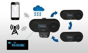 Image 3 - FreedConn TCOM SC BT Interphone Motorcycle Helmet Intercom Wireless Bluetooth Headset Waterproof Intercom LCD FM