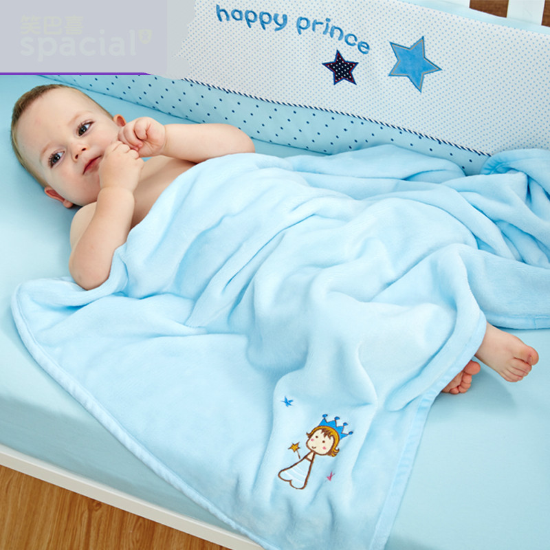 76*102cm Super Soft Polyster Baby Blanket Infant Crib Bedding Cartoon Monkey Rabbit Bear Blanket Newborn Gift For Boys Girls Baby Bedding