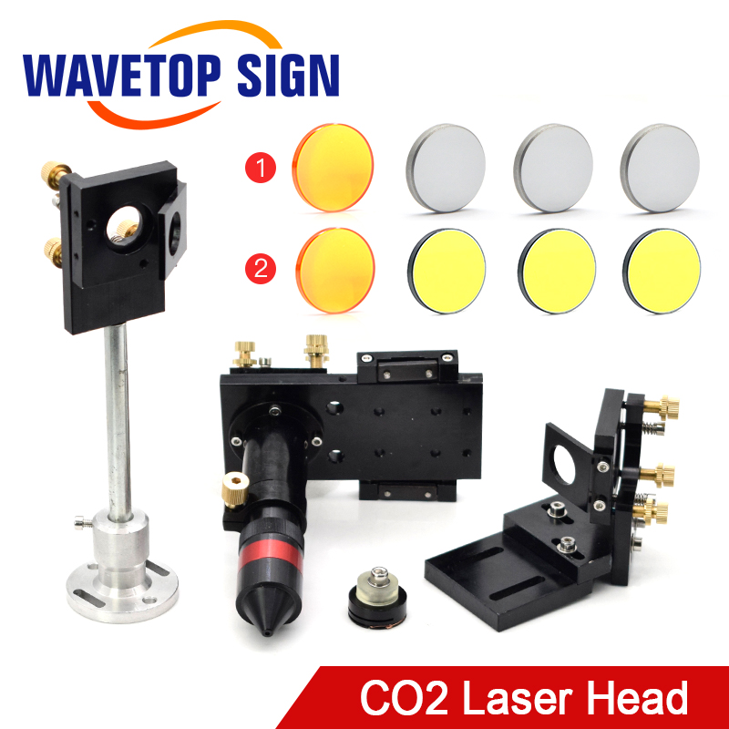WaveTopSign CO2 Laser Head Focus Lens 20mm Reflective Mirror 25mm Integrative Mount Laser Engraving and Cutting