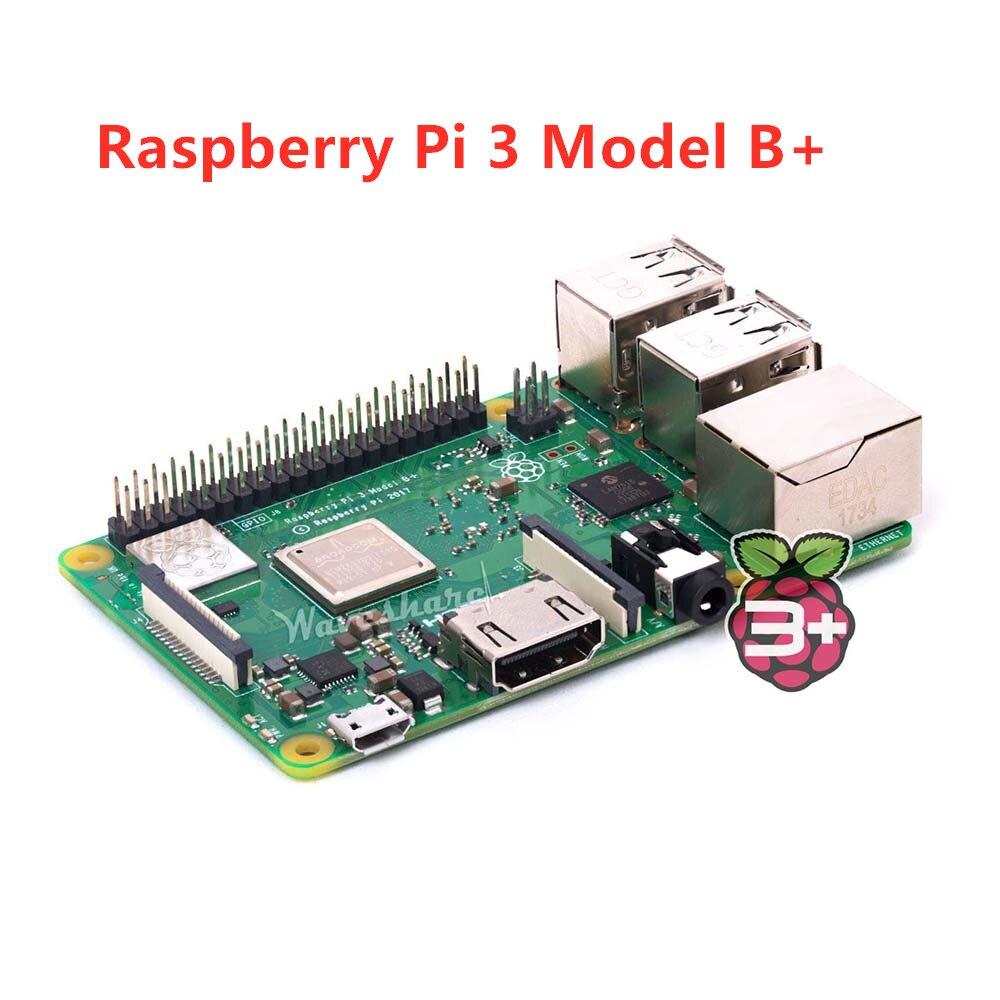 2018 nouveau Raspberry original Pi 3 modèle B +, la troisième génération Pi A 1.4 GHz 64 bits quad-core ARM Cortex-A53 CPU