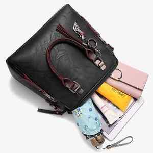Image 5 - Sac à main en cuir PU pour femmes, sac de luxe à épaule de marque célèbre, sacoche à bandoulière de grande capacité, fourre tout décontracté LB753