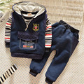 Autumn/Winter Baby Boy Clothing Sets children Warm clothes set Kids Boys shirt+vest+pants Sport Suit